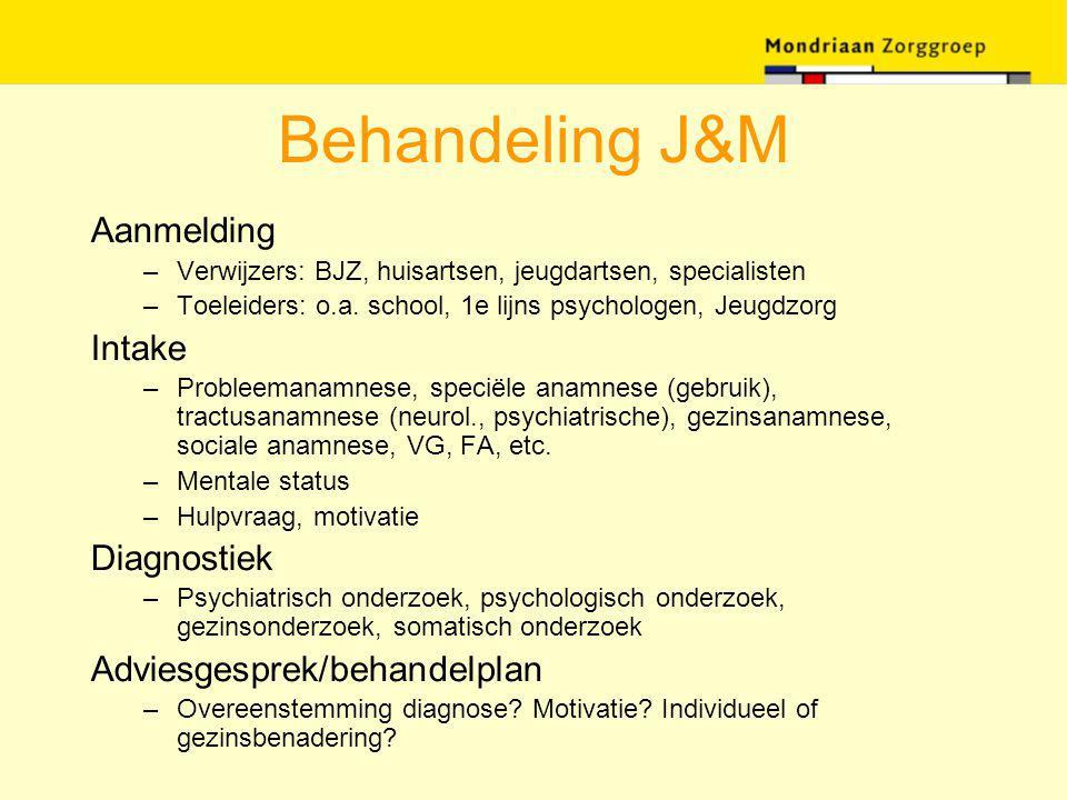 Behandeling J&M Aanmelding Intake Diagnostiek