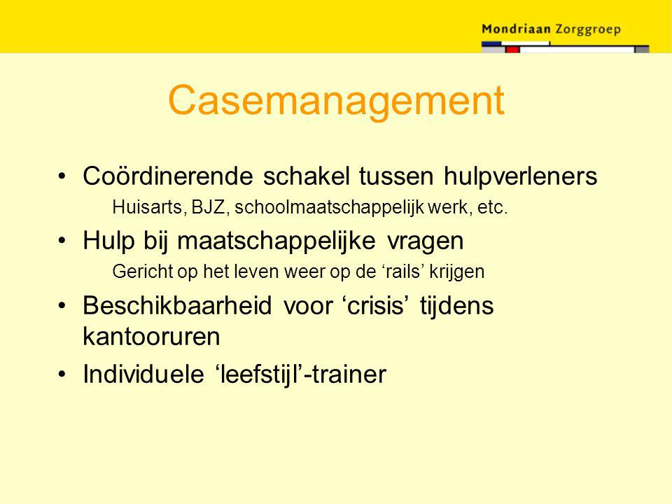 Casemanagement Coördinerende schakel tussen hulpverleners