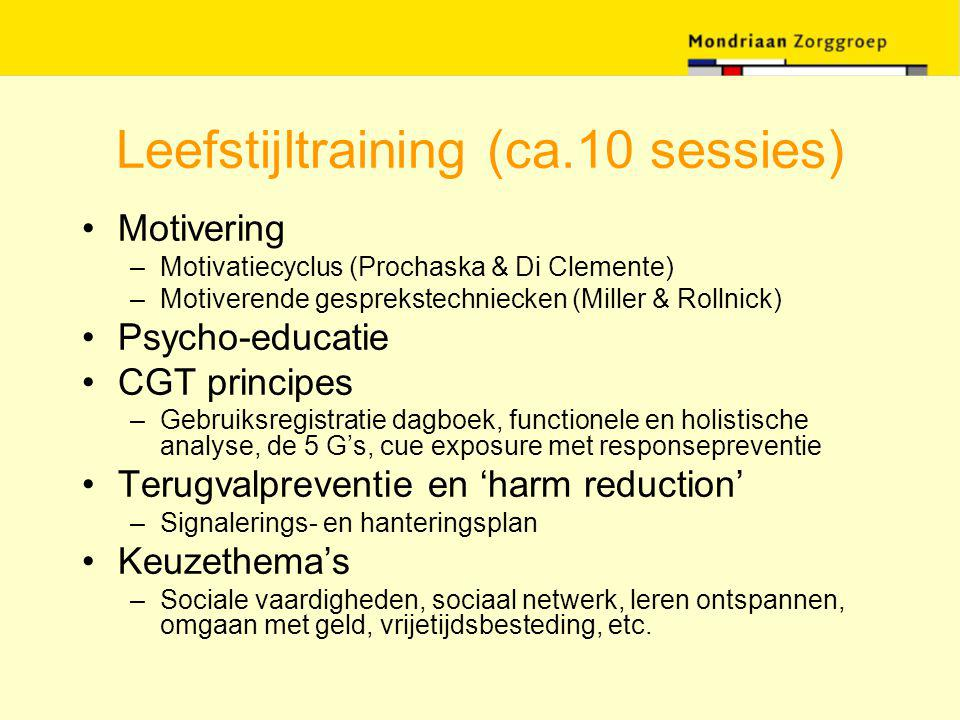 Leefstijltraining (ca.10 sessies)