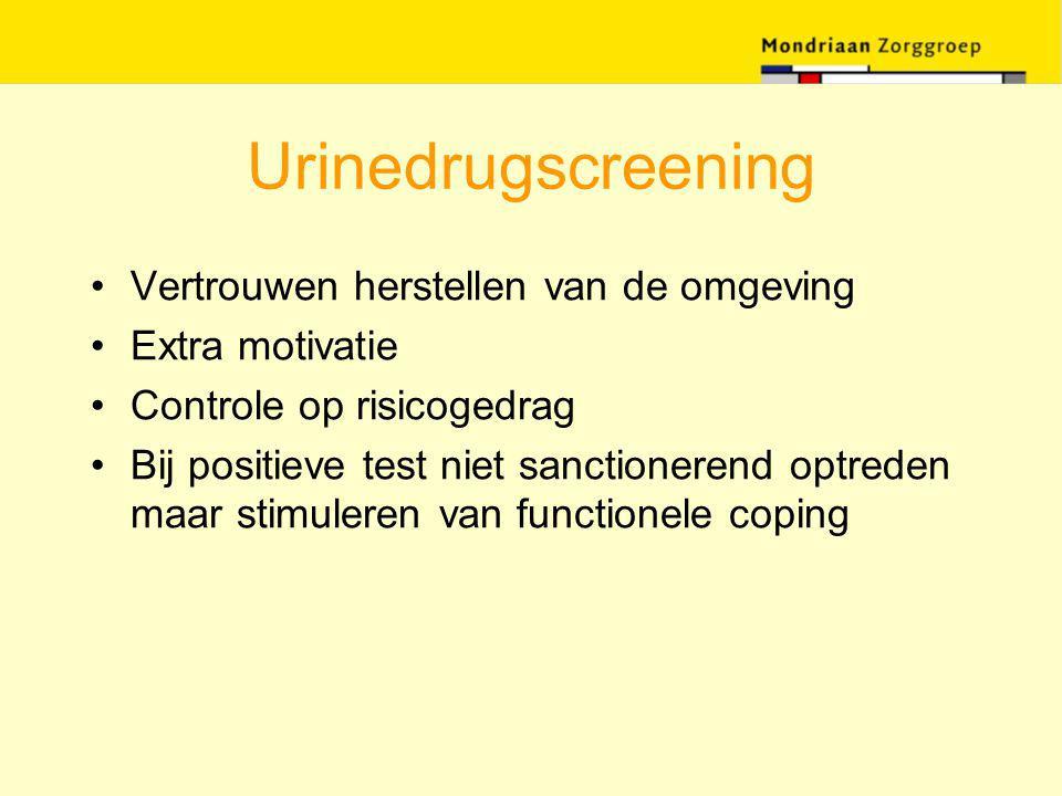 Urinedrugscreening Vertrouwen herstellen van de omgeving