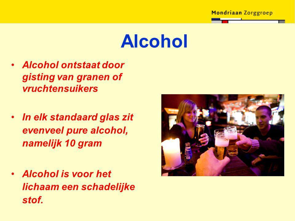 Alcohol Alcohol ontstaat door gisting van granen of vruchtensuikers