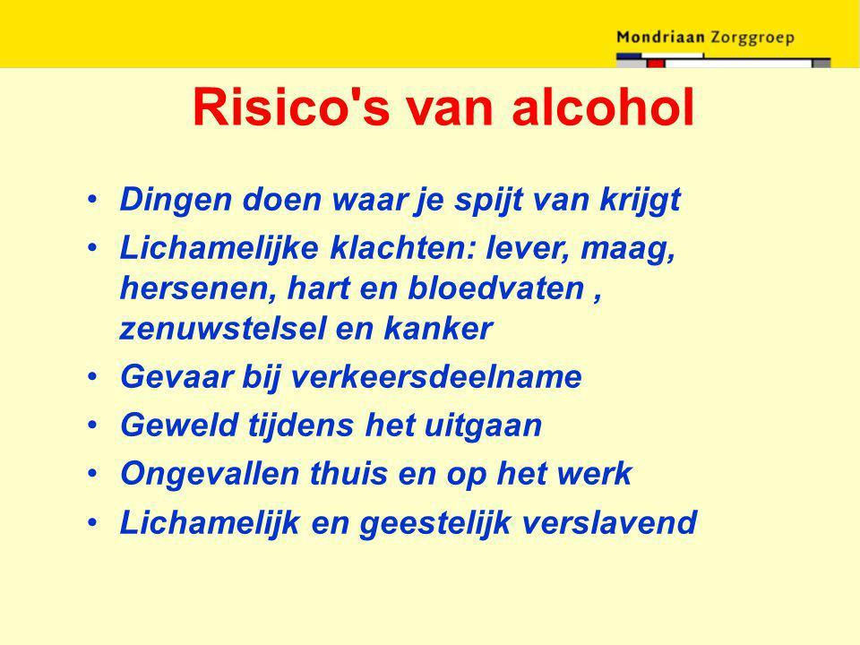 Risico s van alcohol Dingen doen waar je spijt van krijgt