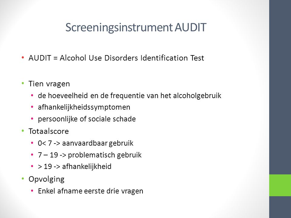 Screeningsinstrument AUDIT