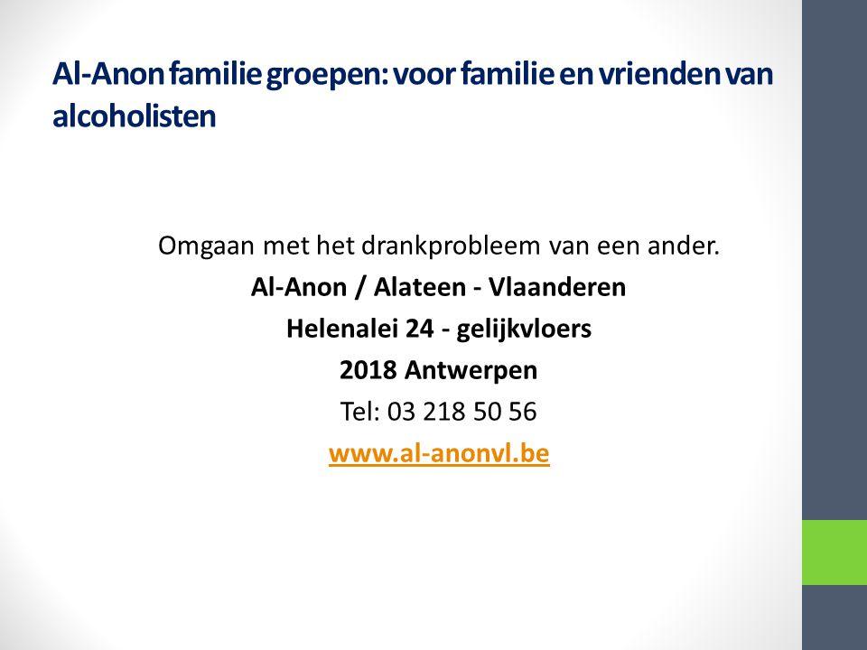 Al-Anon familie groepen: voor familie en vrienden van alcoholisten