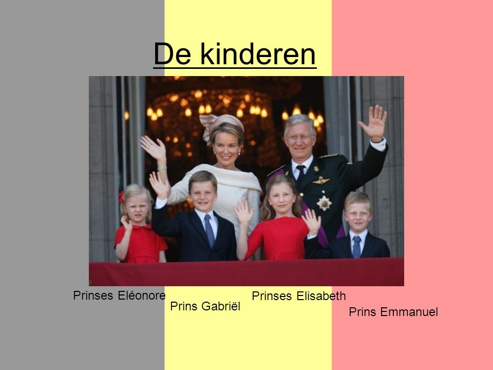 De kinderen Prinses Eléonore Prinses Elisabeth Prins Gabriël