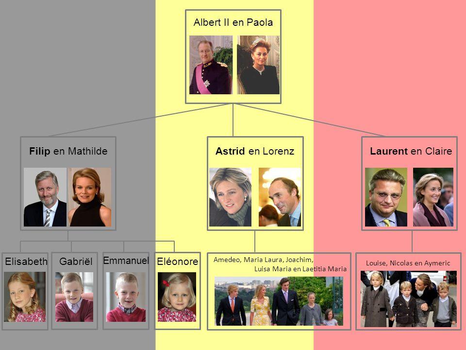 Albert II en Paola Filip en Mathilde Astrid en Lorenz