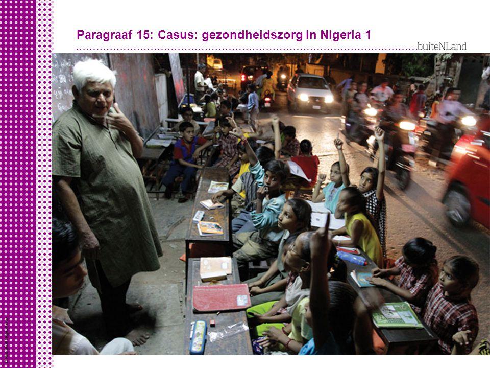 Paragraaf 15: Casus: gezondheidszorg in Nigeria 1