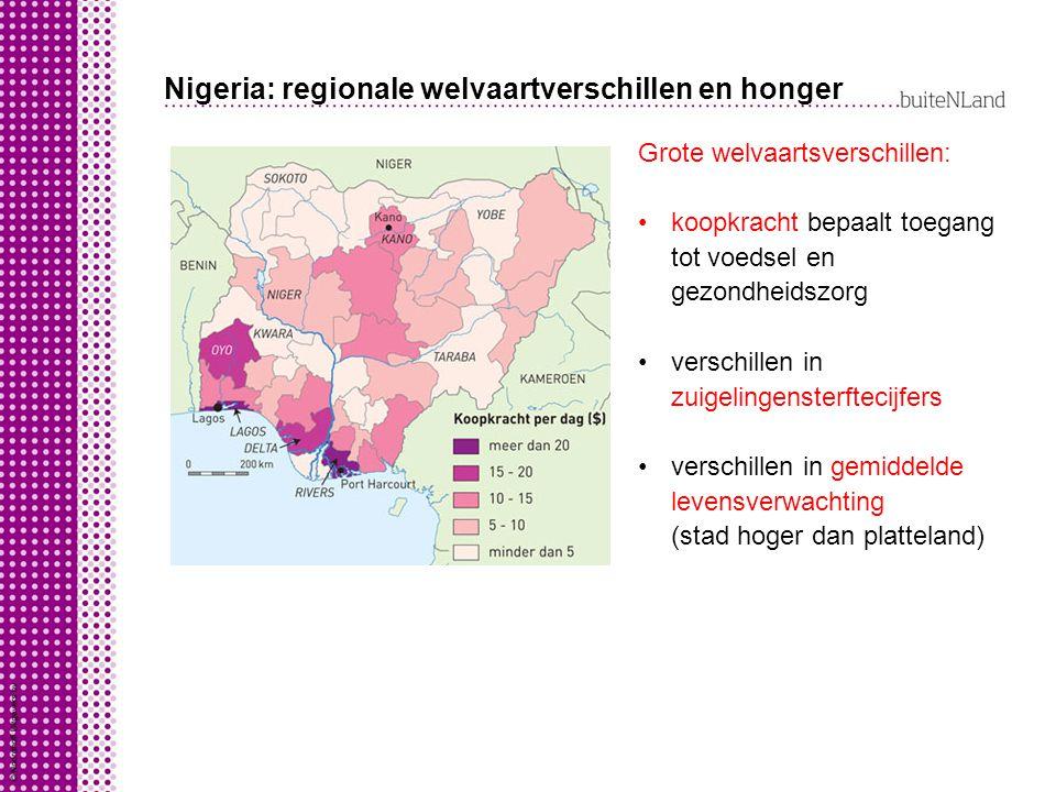 Nigeria: regionale welvaartverschillen en honger
