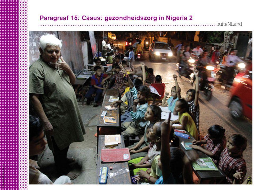 Paragraaf 15: Casus: gezondheidszorg in Nigeria 2