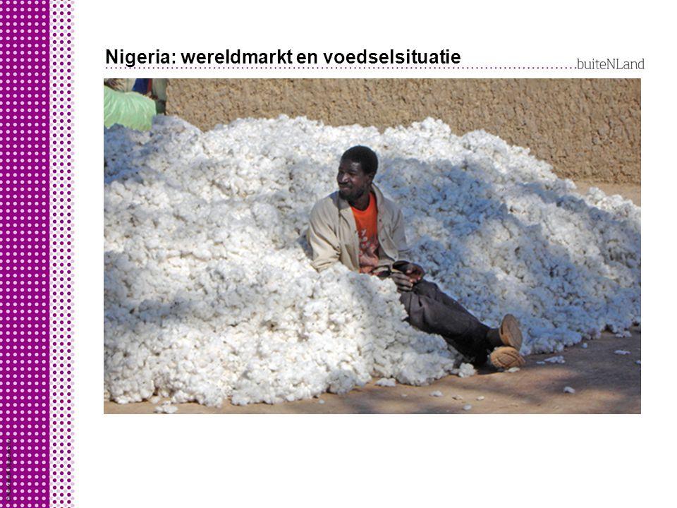 Nigeria: wereldmarkt en voedselsituatie