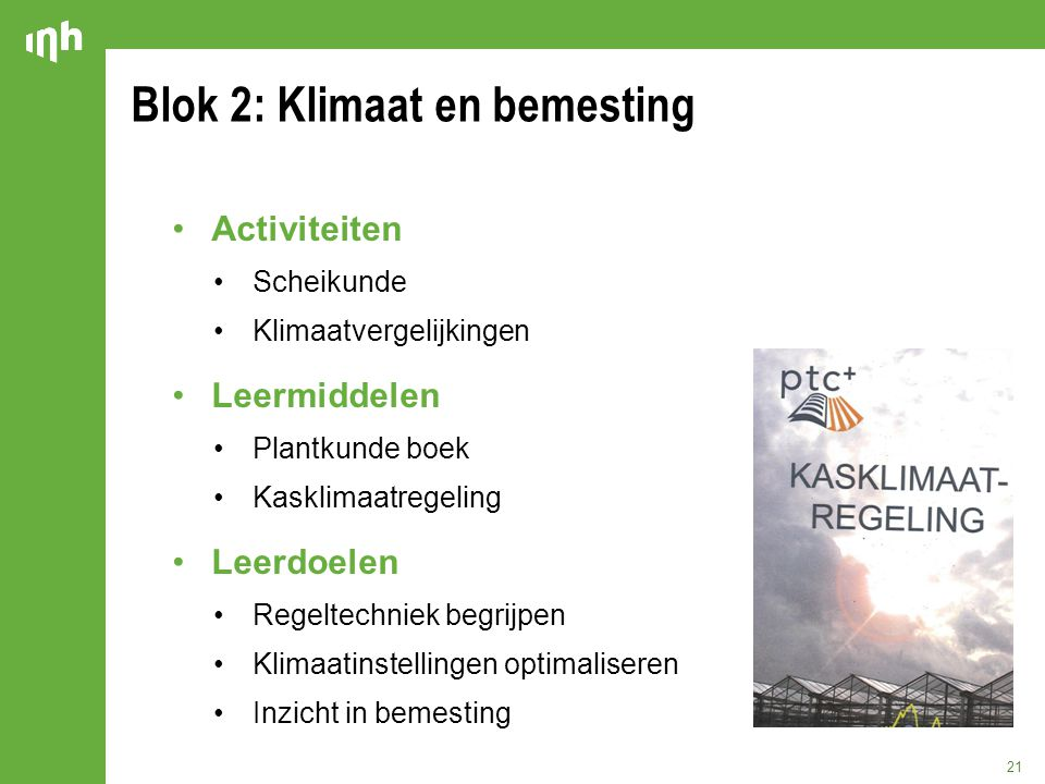 Blok 2: Klimaat en bemesting
