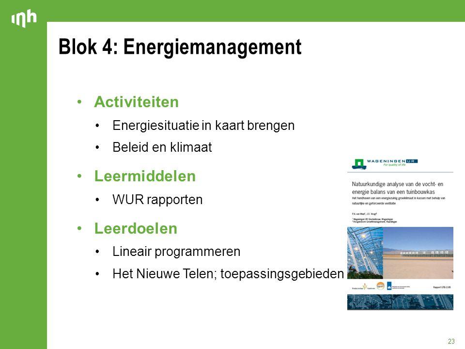 Blok 4: Energiemanagement