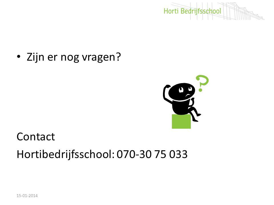 Hortibedrijfsschool: 070-30 75 033