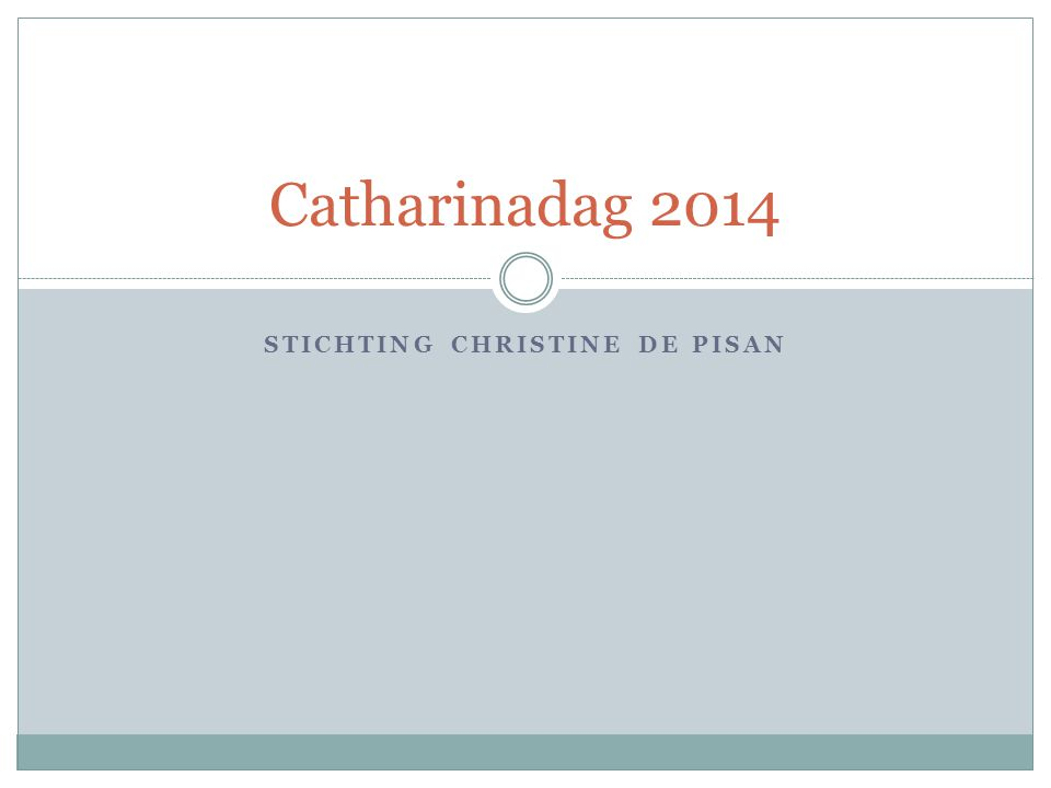 Stichting Christine de Pisan
