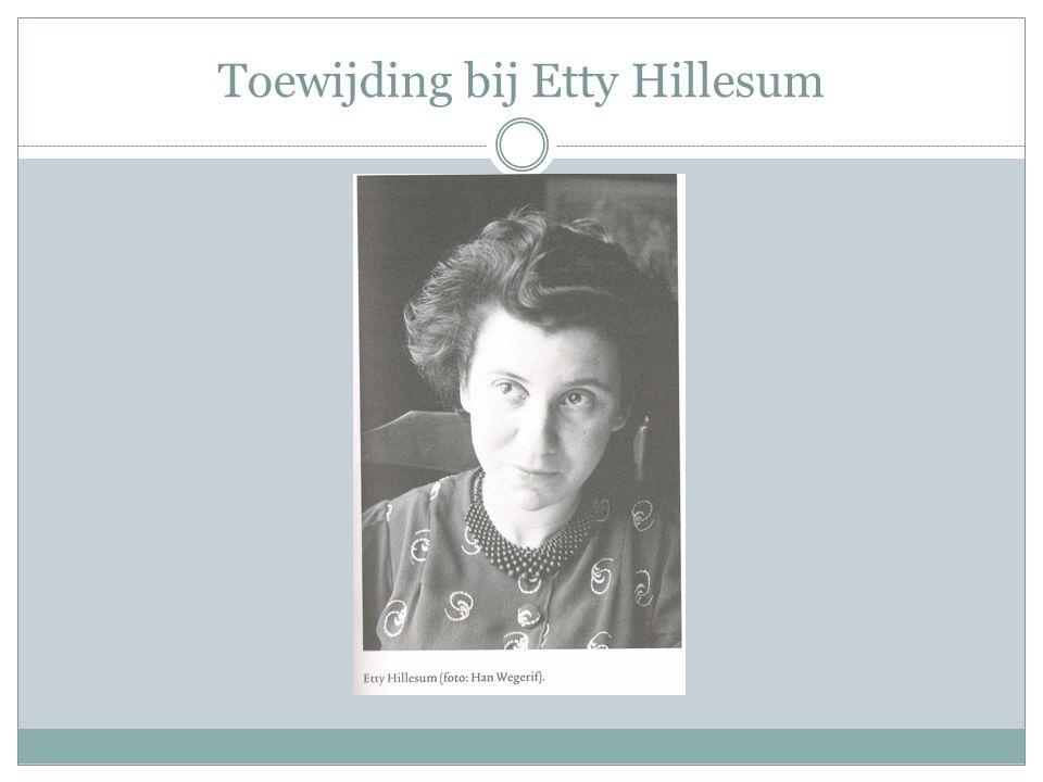 Toewijding bij Etty Hillesum