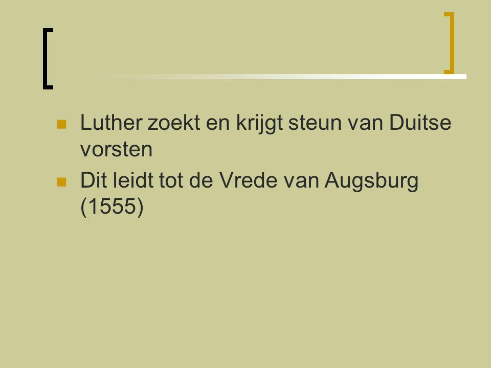 Luther zoekt en krijgt steun van Duitse vorsten
