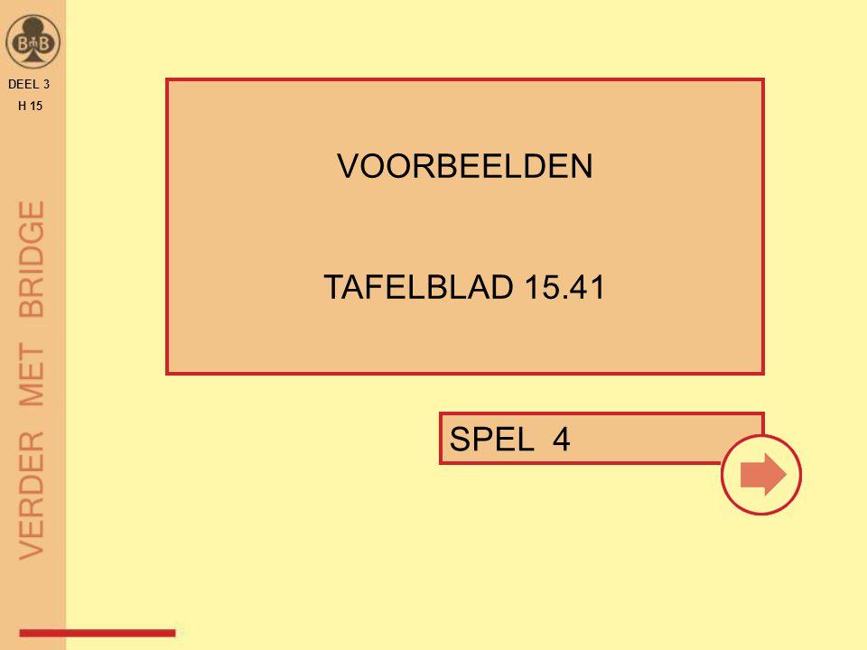 DEEL 3 H 15 VOORBEELDEN TAFELBLAD 15.41 SPEL 4 26