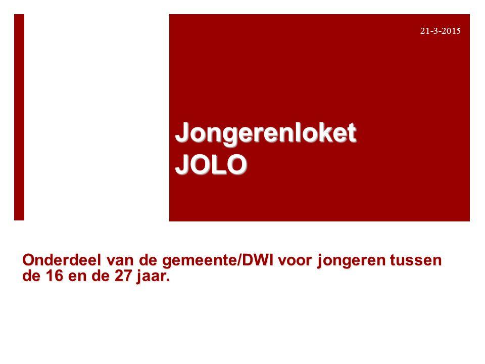 8-4-2017 Jongerenloket JOLO Onderdeel van de gemeente/DWI voor jongeren tussen de 16 en de 27 jaar.