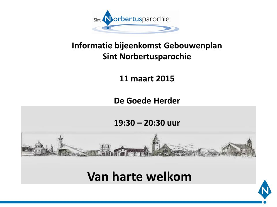 Informatie bijeenkomst Gebouwenplan Sint Norbertusparochie