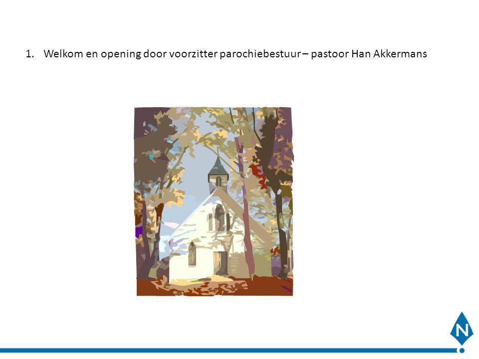 Welkom en opening door voorzitter parochiebestuur – pastoor Han Akkermans