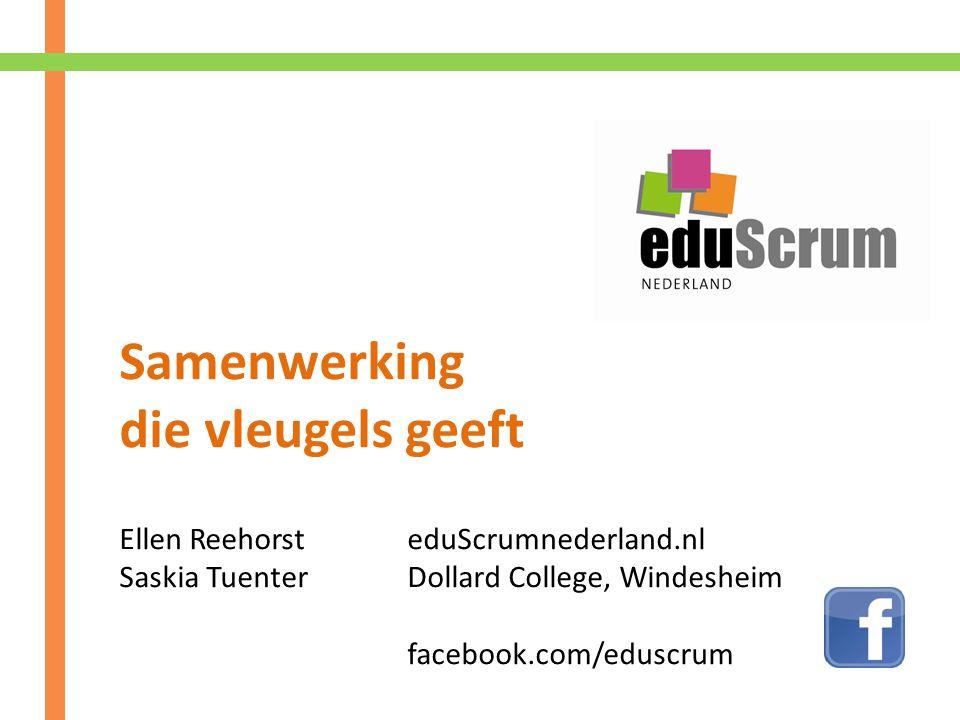Samenwerking die vleugels geeft Ellen Reehorst eduScrumnederland.nl