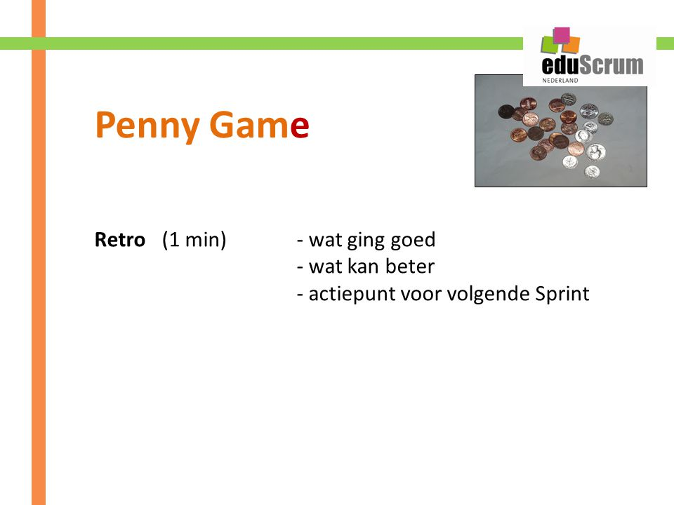 Penny Game Retro (1 min) - wat ging goed - wat kan beter