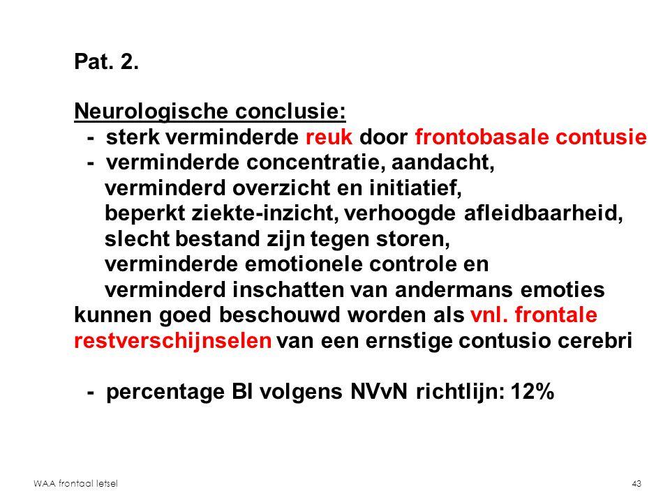 Neurologische conclusie: