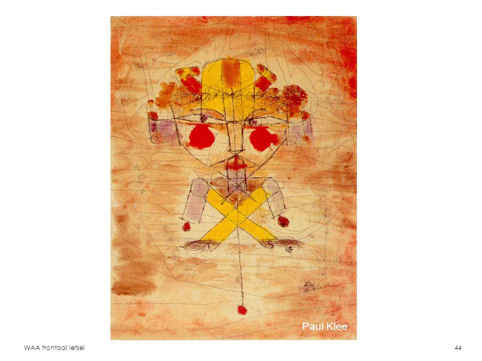 Paul Klee WAA frontaal letsel