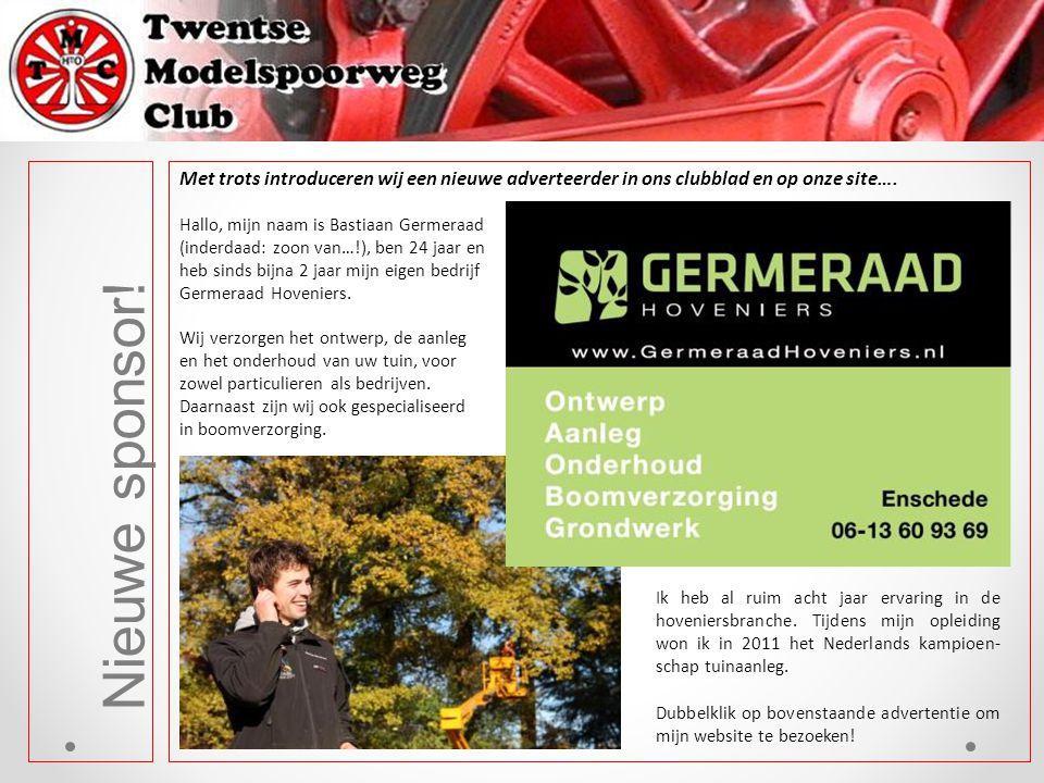 Met trots introduceren wij een nieuwe adverteerder in ons clubblad en op onze site….