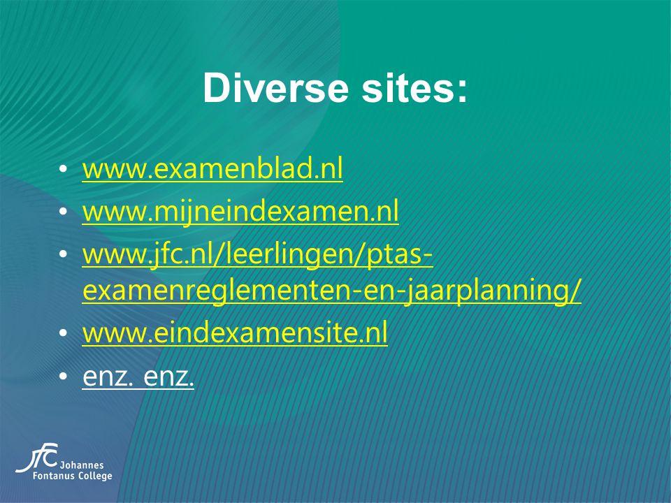 Diverse sites: www.examenblad.nl www.mijneindexamen.nl