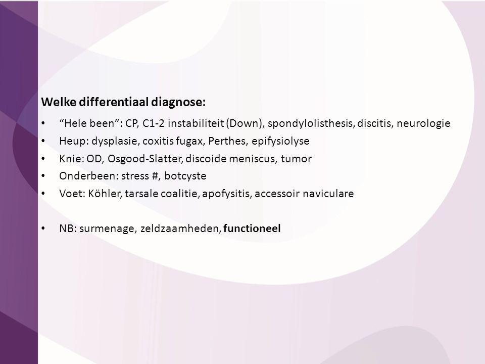 Welke differentiaal diagnose: