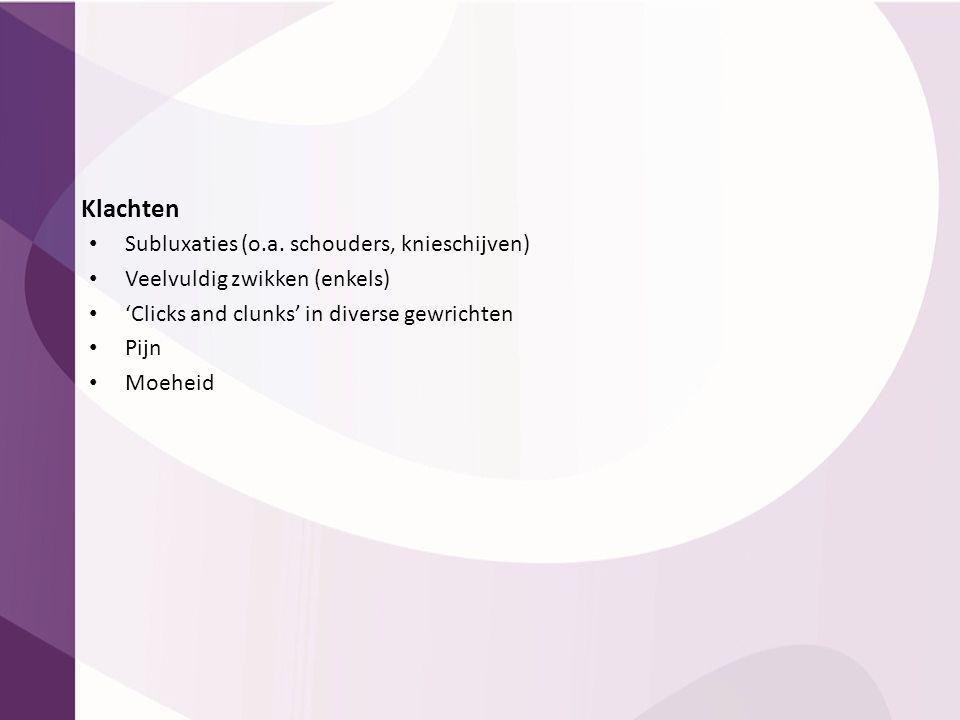 Klachten Subluxaties (o.a. schouders, knieschijven)