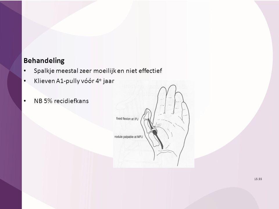 Behandeling Spalkje meestal zeer moeilijk en niet effectief