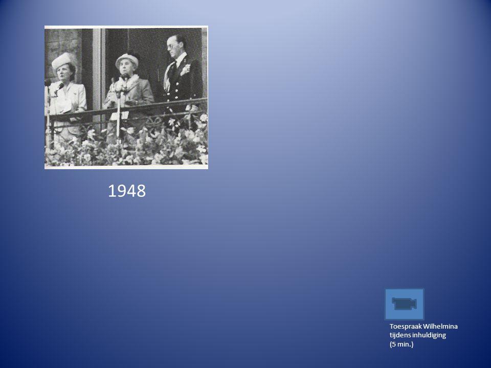 1948 Toespraak Wilhelmina tijdens inhuldiging (5 min.)
