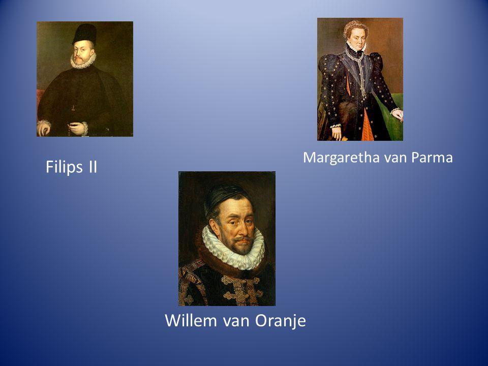 Margaretha van Parma Filips II Willem van Oranje