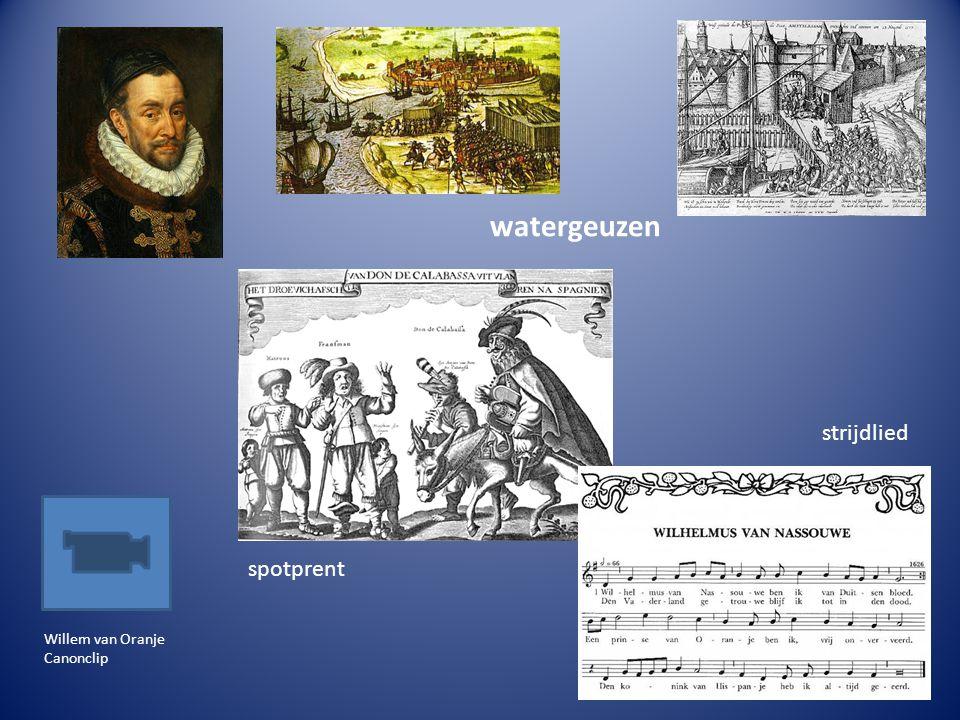 watergeuzen strijdlied spotprent Willem van Oranje Canonclip