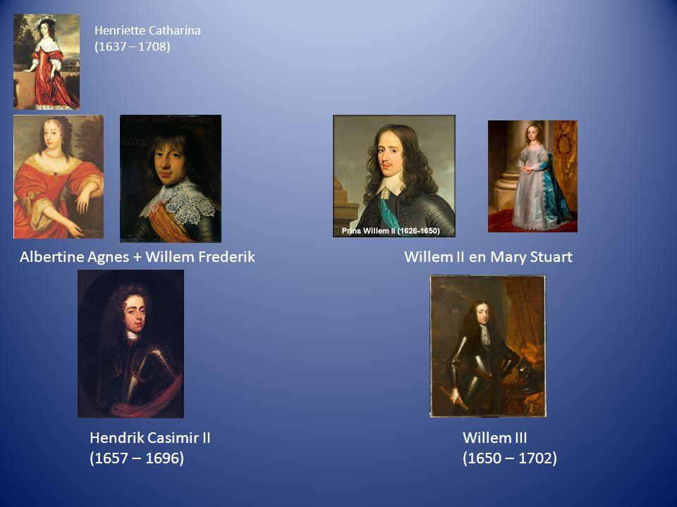 Albertine Agnes + Willem Frederik Willem II en Mary Stuart