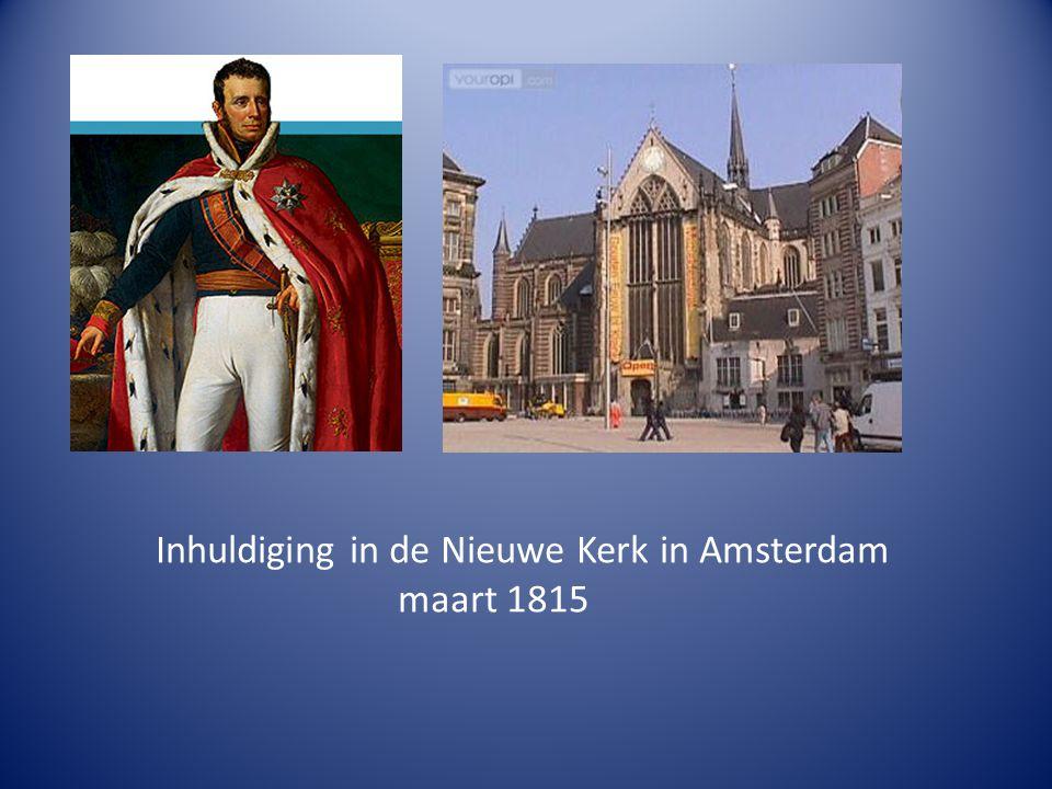 Inhuldiging in de Nieuwe Kerk in Amsterdam