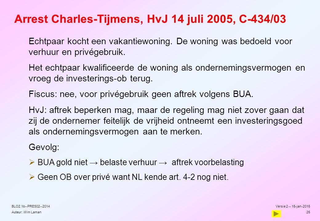 Arrest Charles-Tijmens, HvJ 14 juli 2005, C-434/03