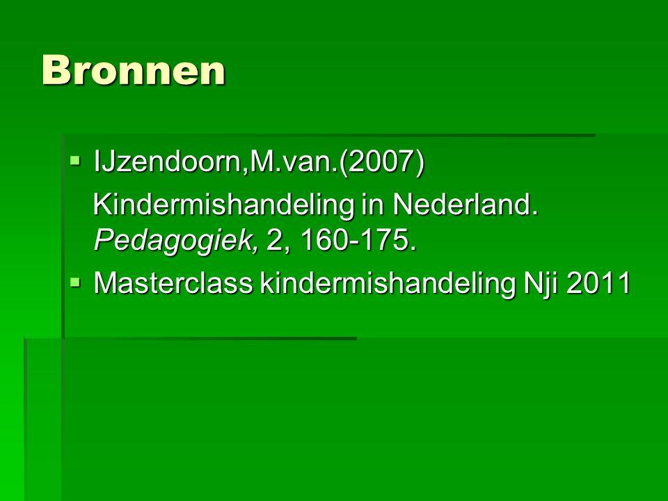 Bronnen IJzendoorn,M.van.(2007)
