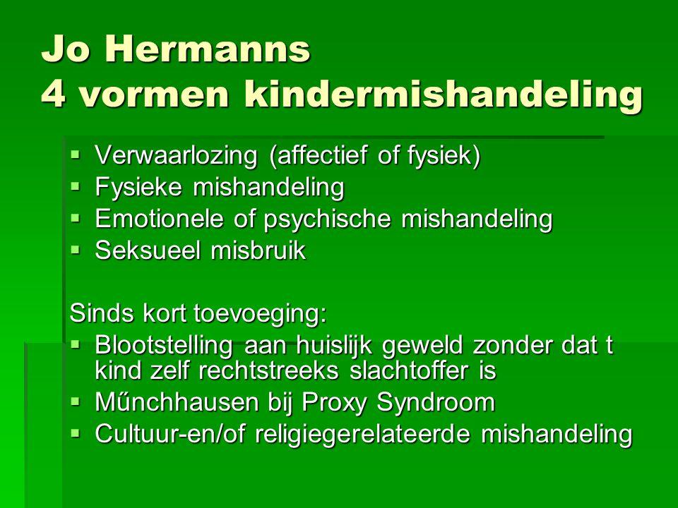 Jo Hermanns 4 vormen kindermishandeling