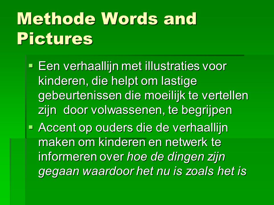 Methode Words and Pictures