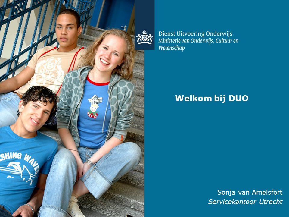 Welkom bij DUO Sonja van Amelsfort Servicekantoor Utrecht