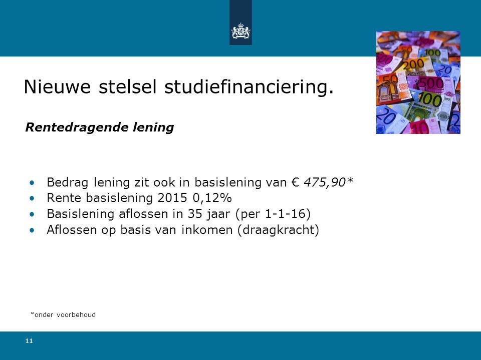 Nieuwe stelsel studiefinanciering.