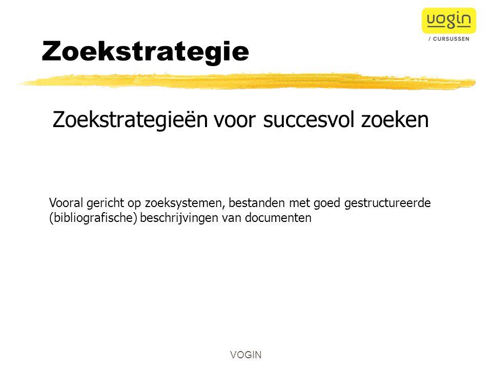 Zoekstrategieën voor succesvol zoeken
