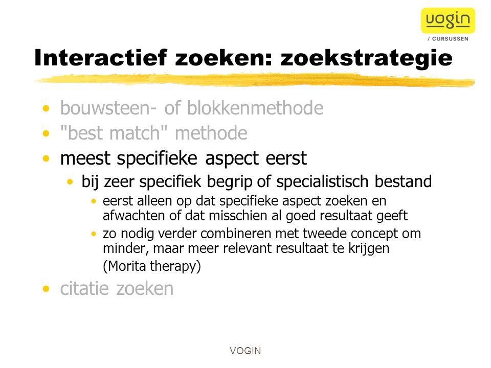 Interactief zoeken: zoekstrategie