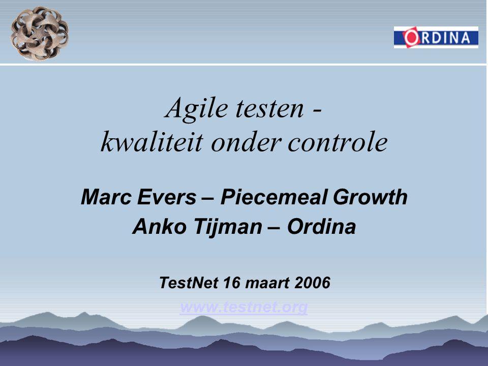 Agile testen - kwaliteit onder controle