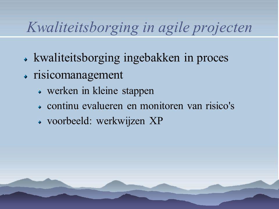 Kwaliteitsborging in agile projecten