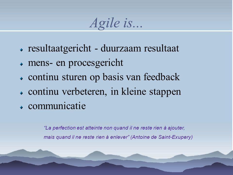 Agile is... resultaatgericht - duurzaam resultaat