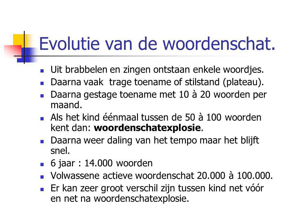 Evolutie van de woordenschat.